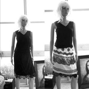 Lovely Classic Vintage Style Reversible Wrap Skirt
